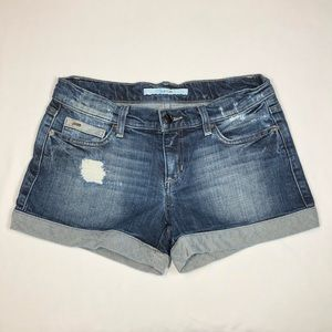 Joe's Jeans Distressed Cuffed Jeans Shorts Size 26
